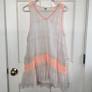 Free People cotton embroidered tunic